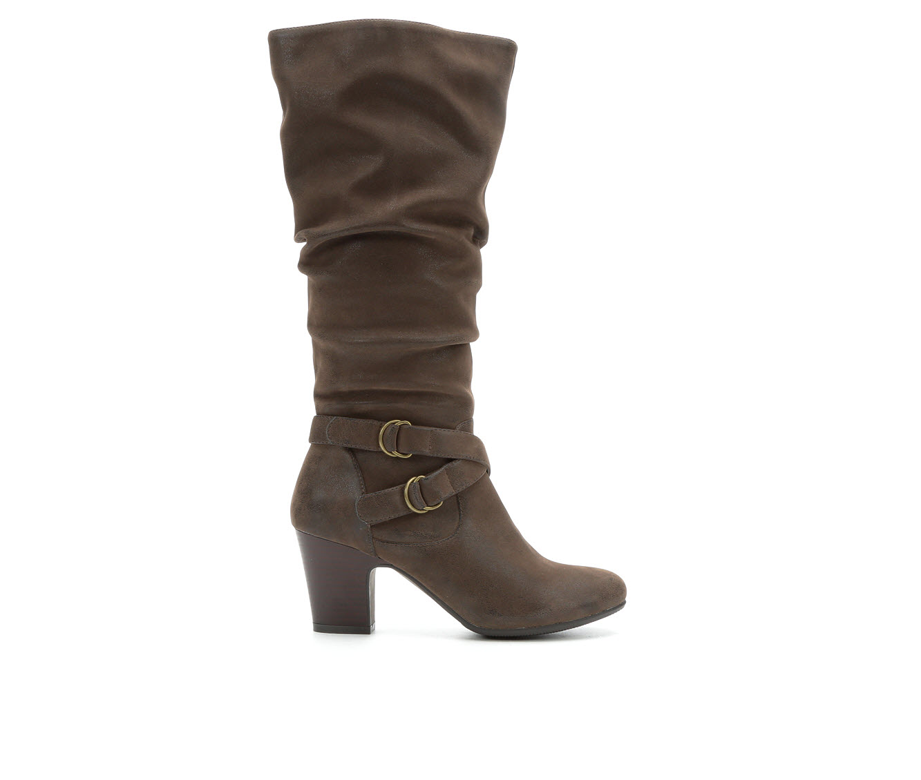 Solanz Poesy Women's Boot (Brown Faux Leather)