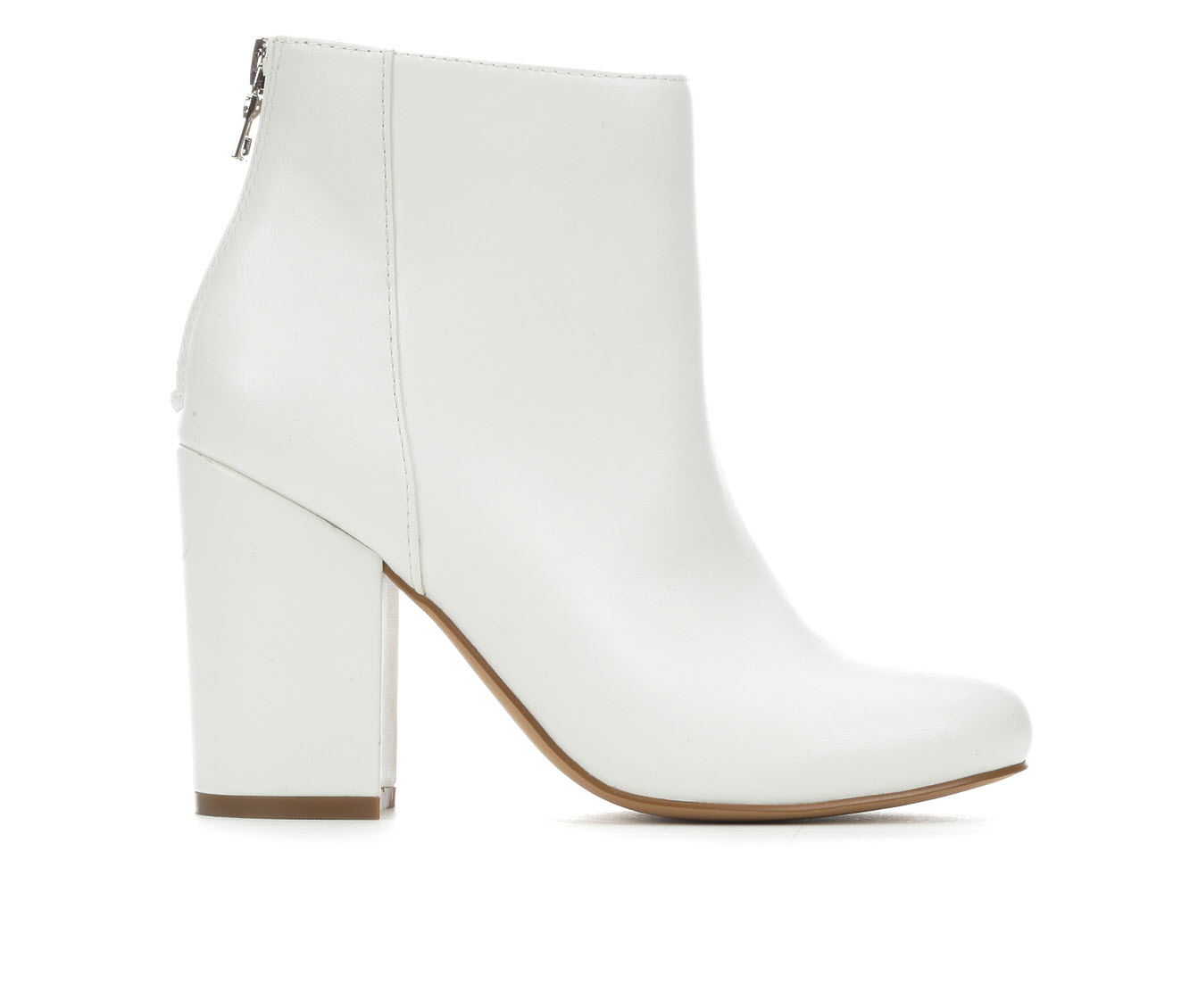 Madden Girl Shadey Women's Boot (White Faux Leather)