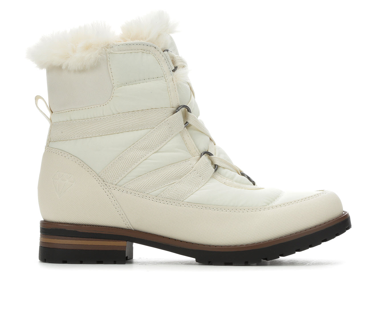 Rock And Candy Danlea-N Women's Boot (White Canvas)