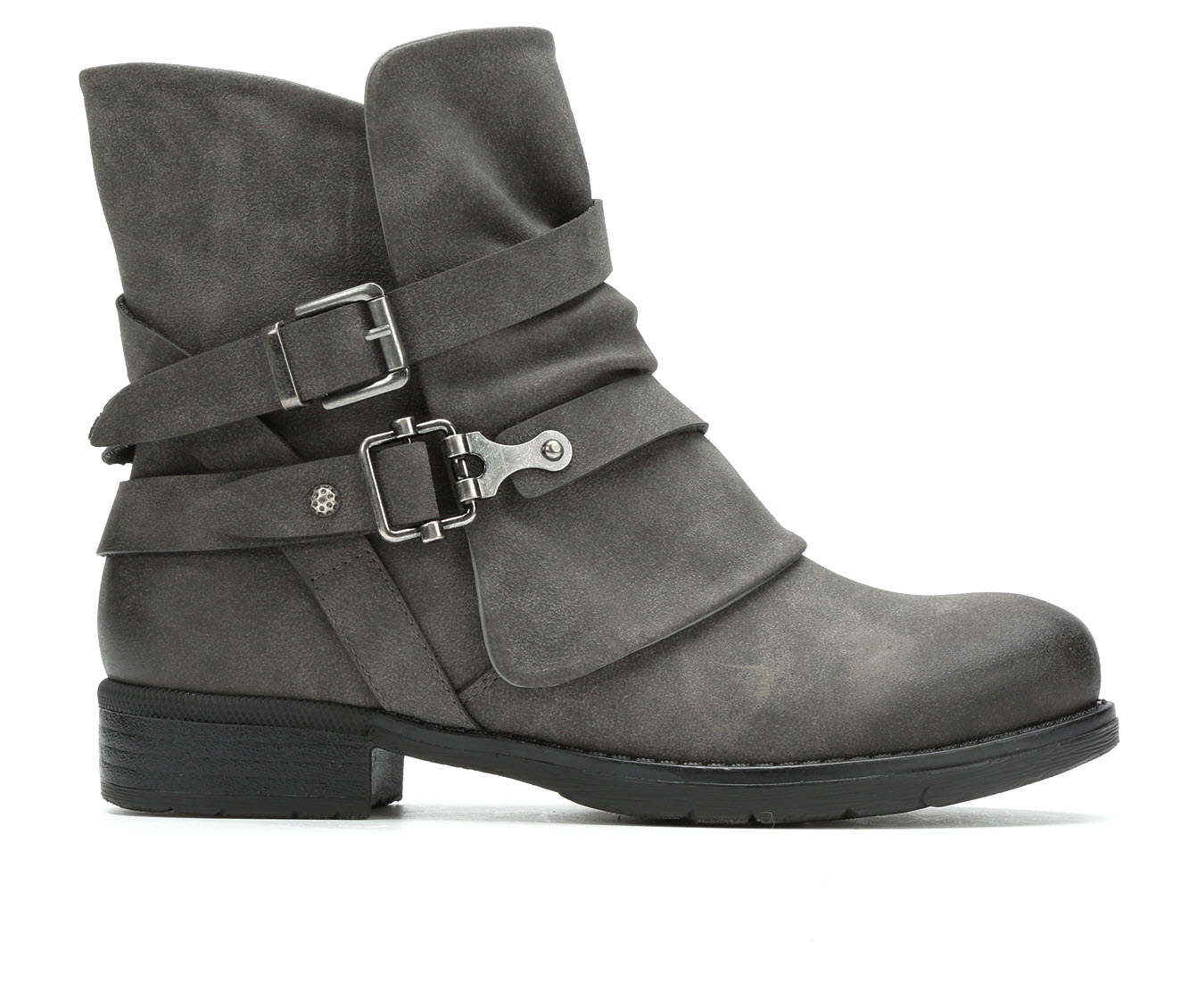 Jellypop Decades Women's Boot (Gray Faux Leather)
