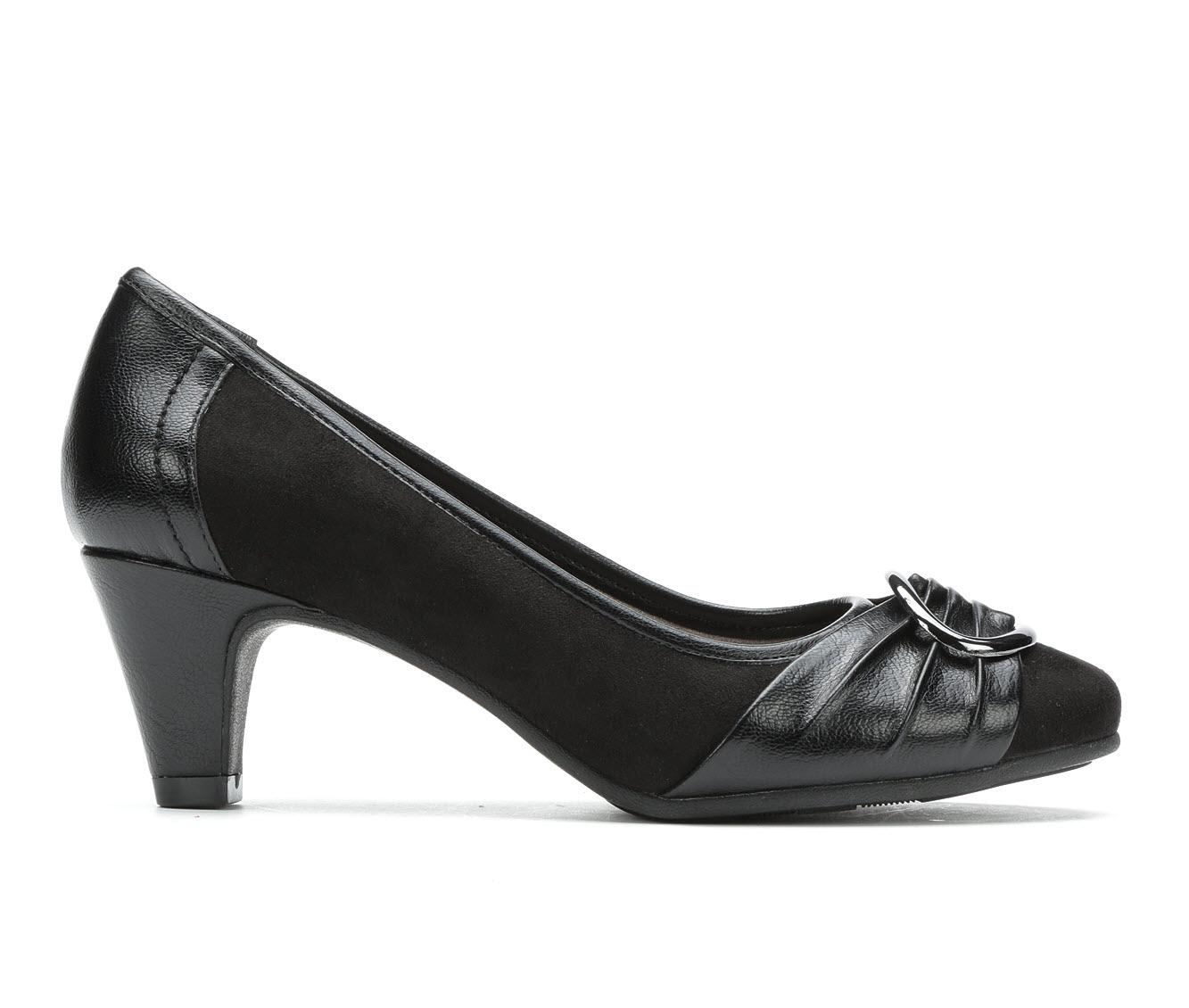 Andiamo Belle Women's Dress Shoe (Black Faux Leather)