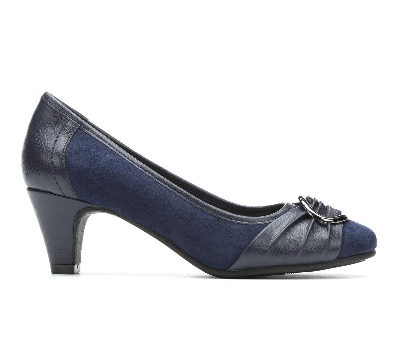 Andiamo Belle Women's Dress Shoe (Blue Faux Leather)