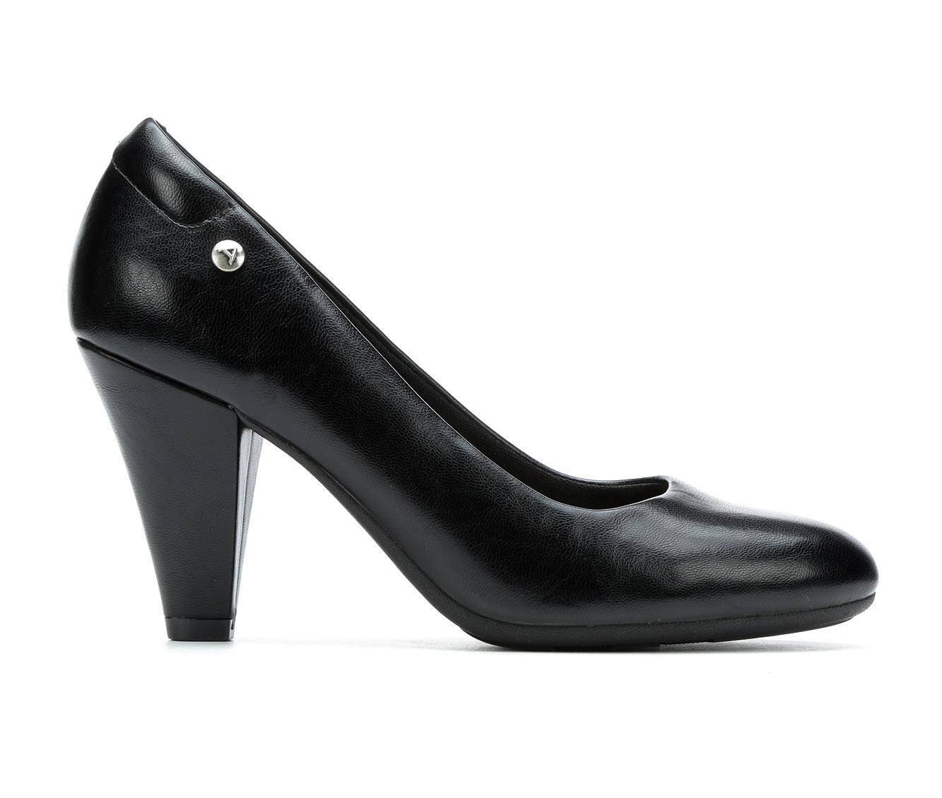 Andiamo Mellie Women's Dress Shoe (Black Faux Leather)