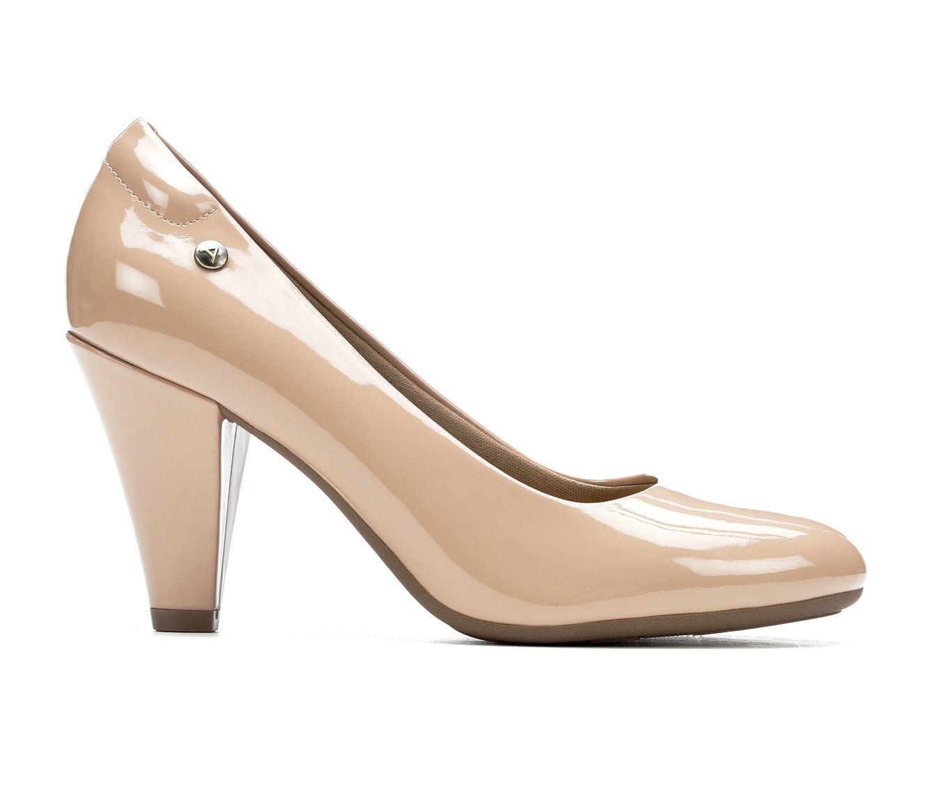 Andiamo Mellie Women's Dress Shoe (Beige Faux Leather)