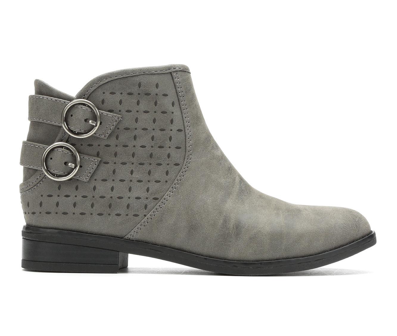 Rocket Dog Marko Women's Boot (Gray Faux Leather)