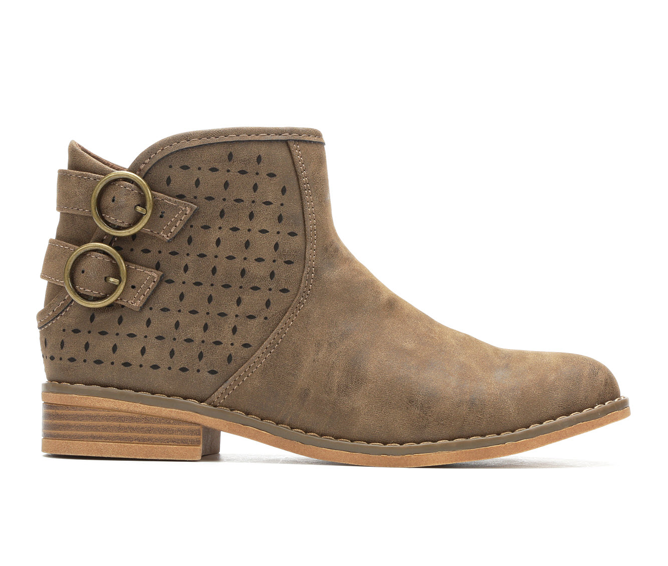 Rocket Dog Marko Women's Boot (Brown Faux Leather)
