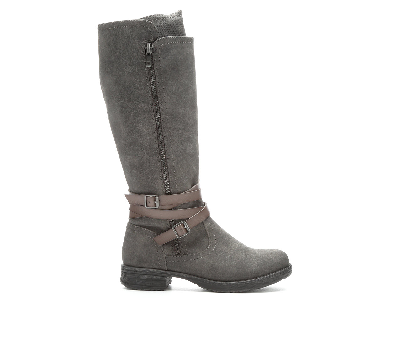 Jellypop Felicia Women's Boot (Gray Faux Leather)