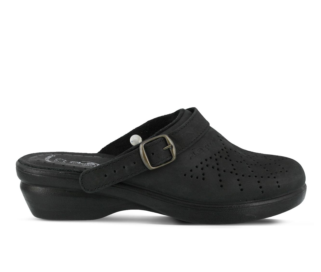 Flexus Pride Women's Shoe (Black Faux Leather)