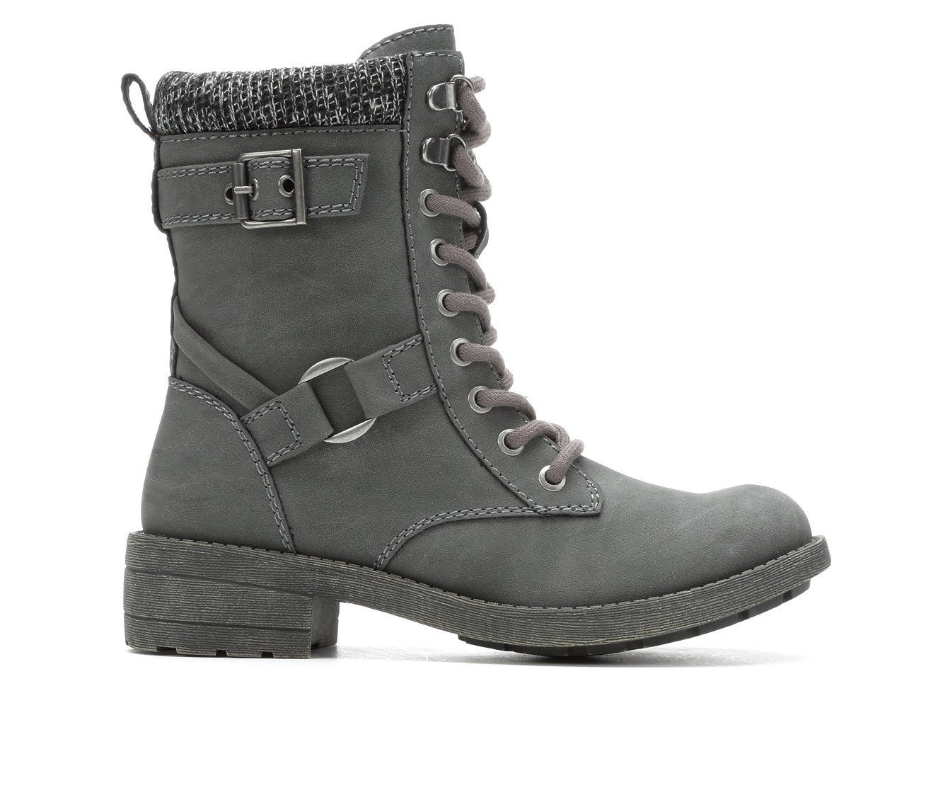 Rocket Dog Travel Women's Boot (Gray Faux Leather)
