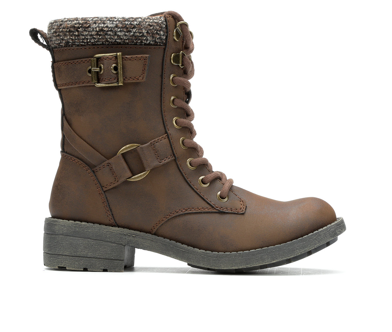 Rocket Dog Travel Women's Boot (Brown Faux Leather)