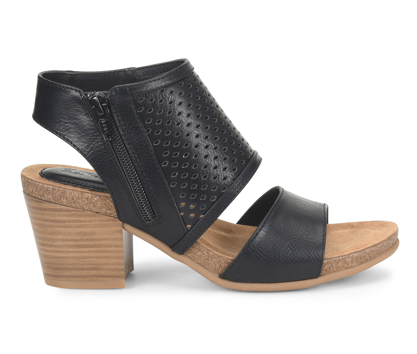 EuroSoft Annalise Women's Dress Shoe (Black Faux Leather)