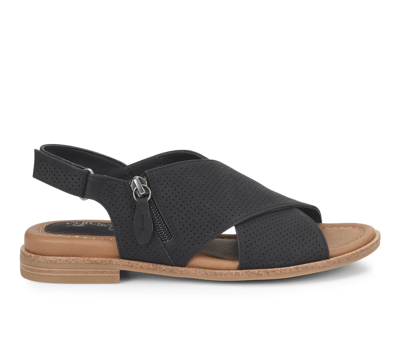 EuroSoft Darla Women's Sandal (Black Faux Leather)