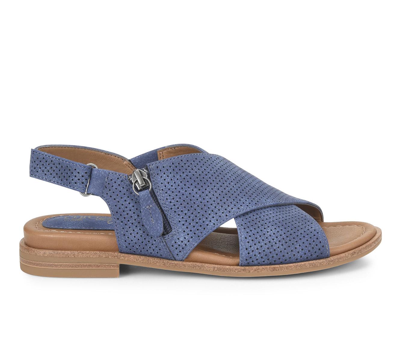 EuroSoft Darla Women's Sandal (Blue Faux Leather)