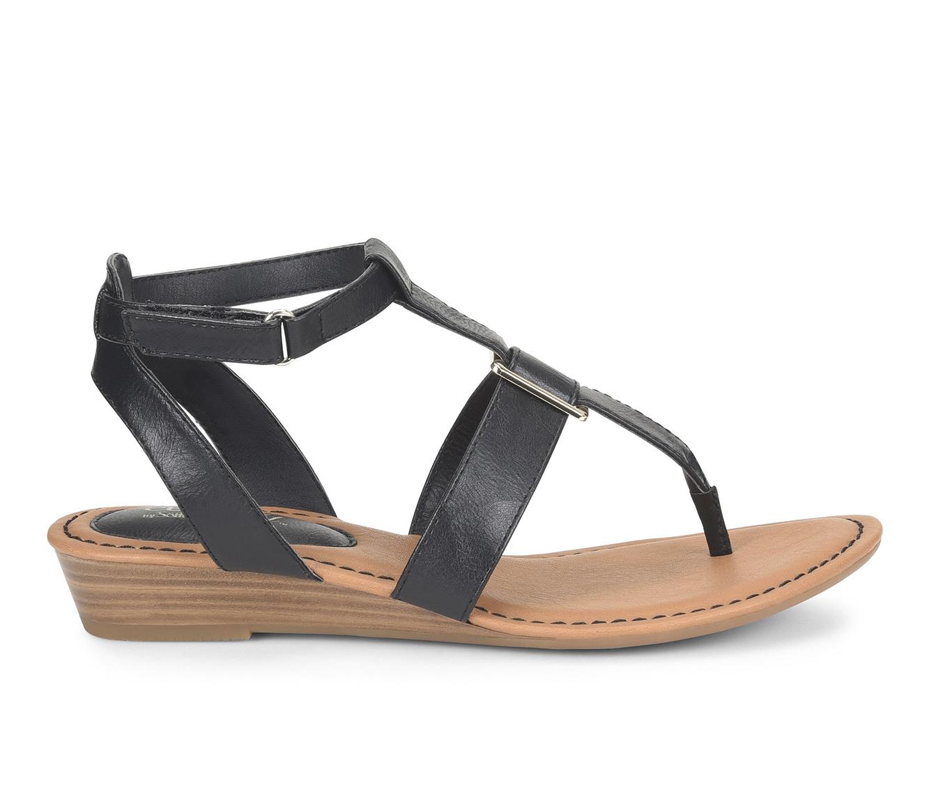 EuroSoft Maddie Women's Sandal (Black Faux Leather)