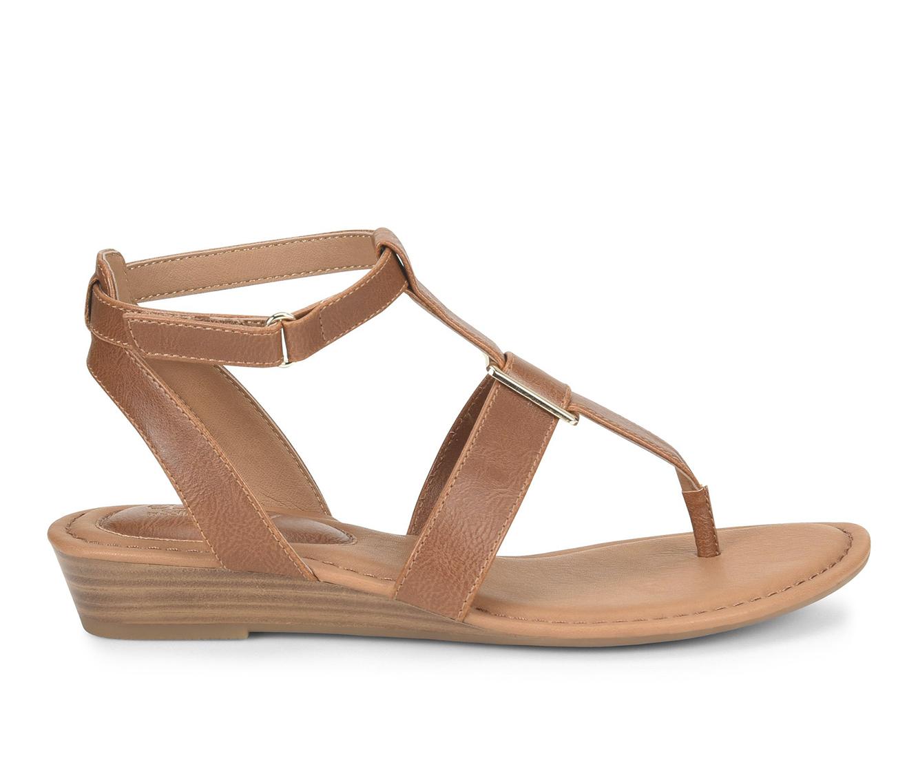 EuroSoft Maddie Women's Sandal (Brown Faux Leather)