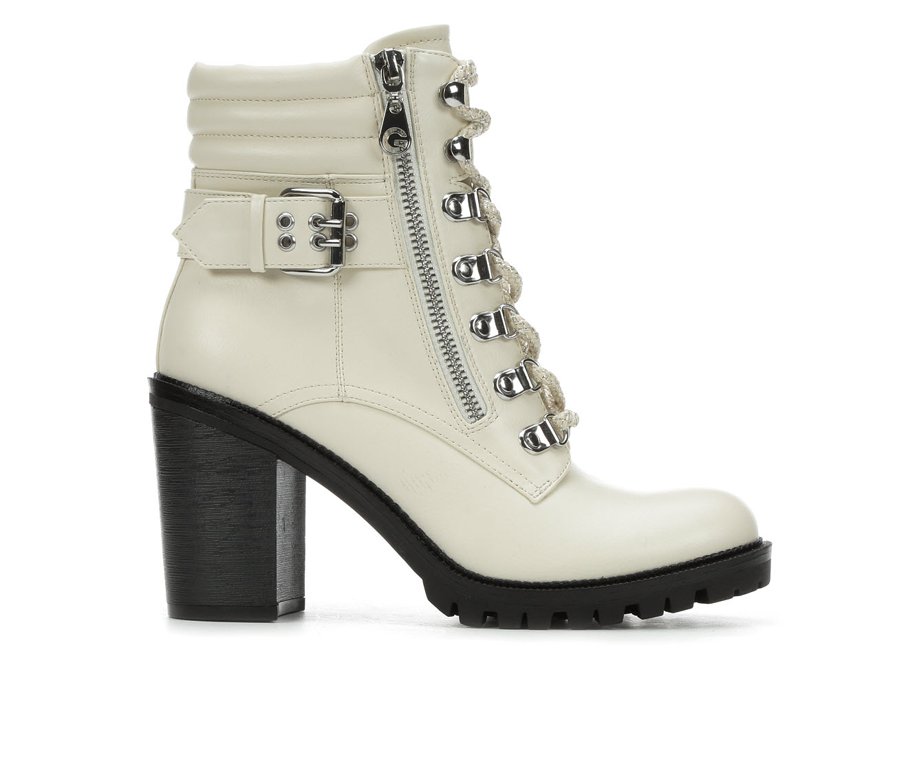 G By Guess Jaylee Women's Boots (White - Faux Leather)