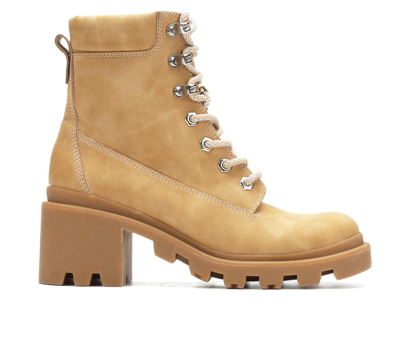 Madden Girl Dillian Women's Boot (Beige Faux Leather)