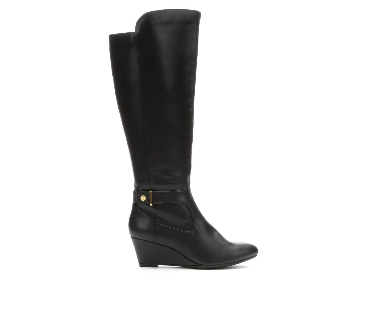 Anne Klein Sport Artesia Women's Boot (Black Faux Leather)