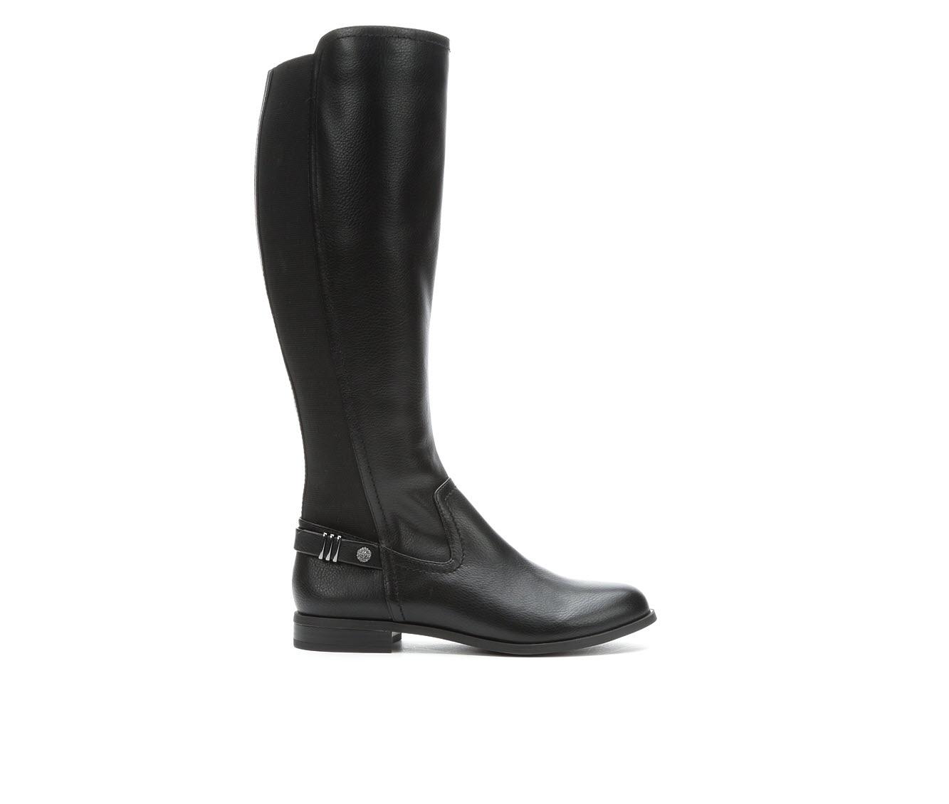 Anne Klein Sport Basia Women's Boot (Black Faux Leather)
