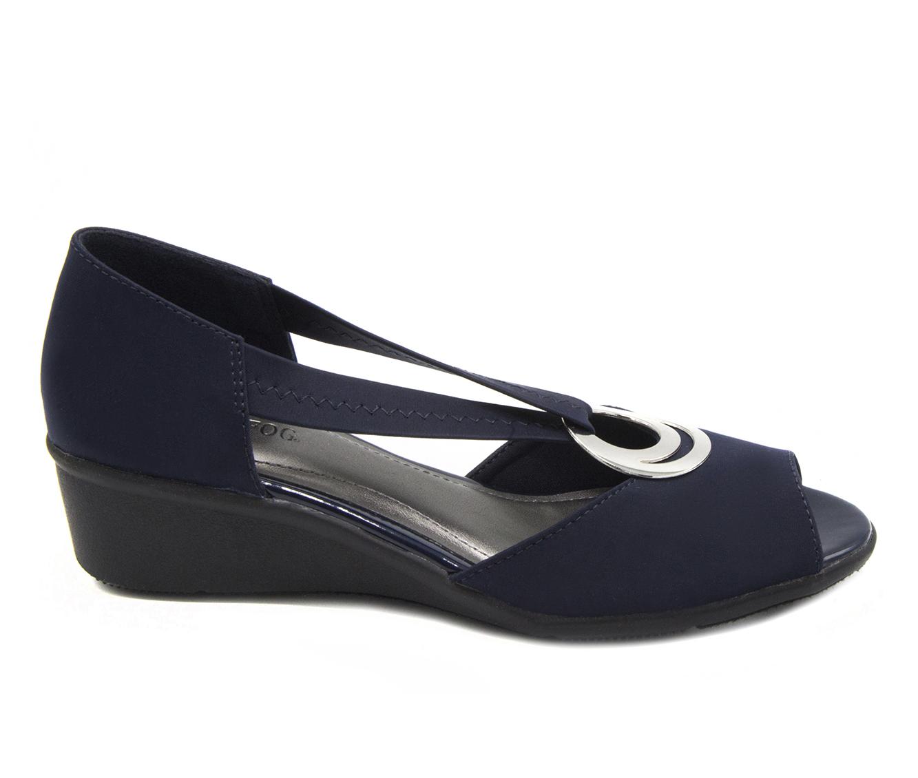 London Fog Cloud Women's Shoe (Blue Canvas)