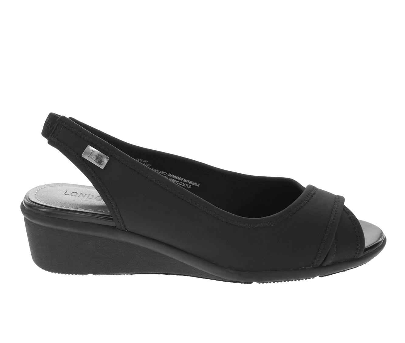 London Fog Casey Women's Shoe (Black Canvas)