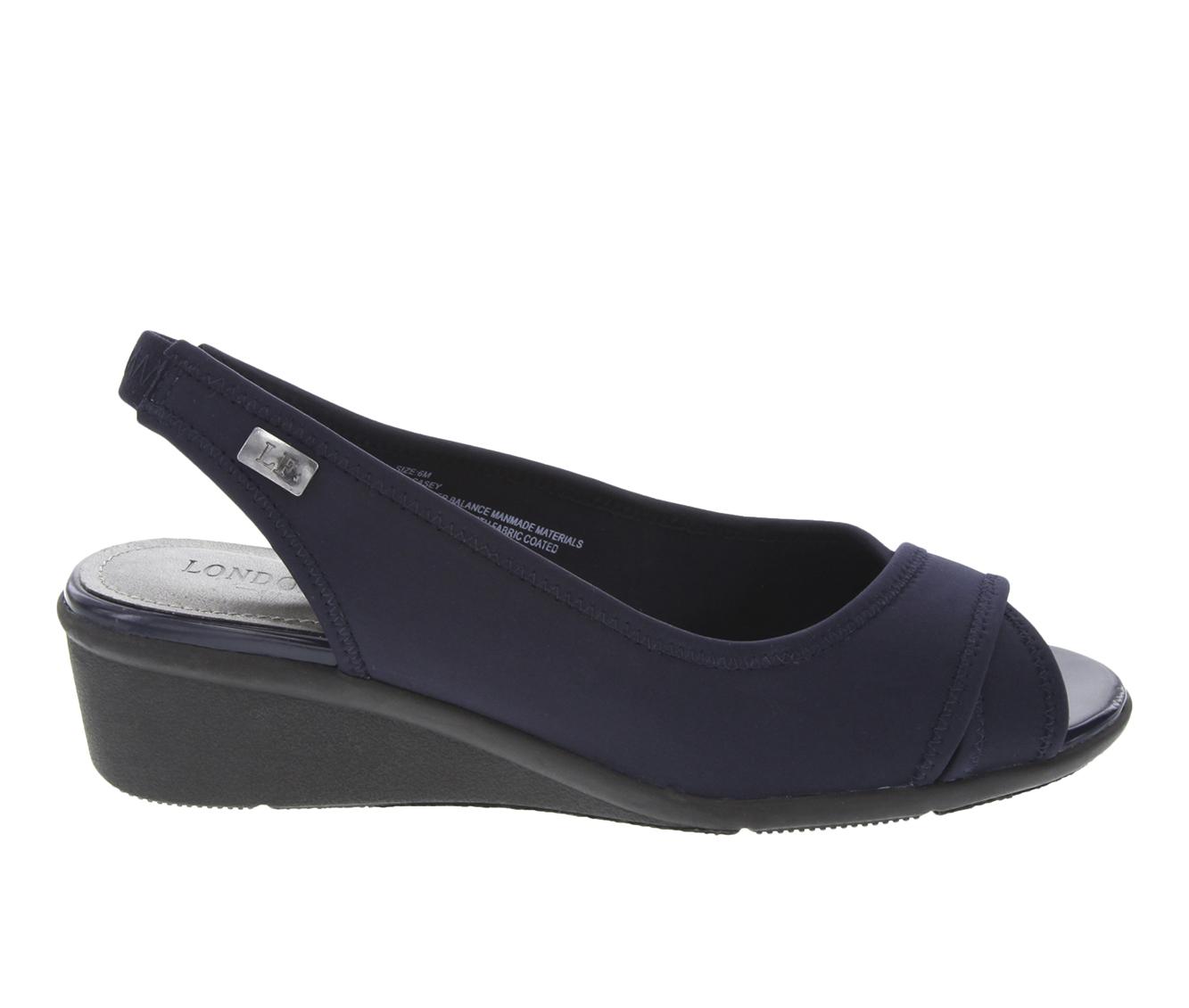 London Fog Casey Women's Shoe (Blue Canvas)
