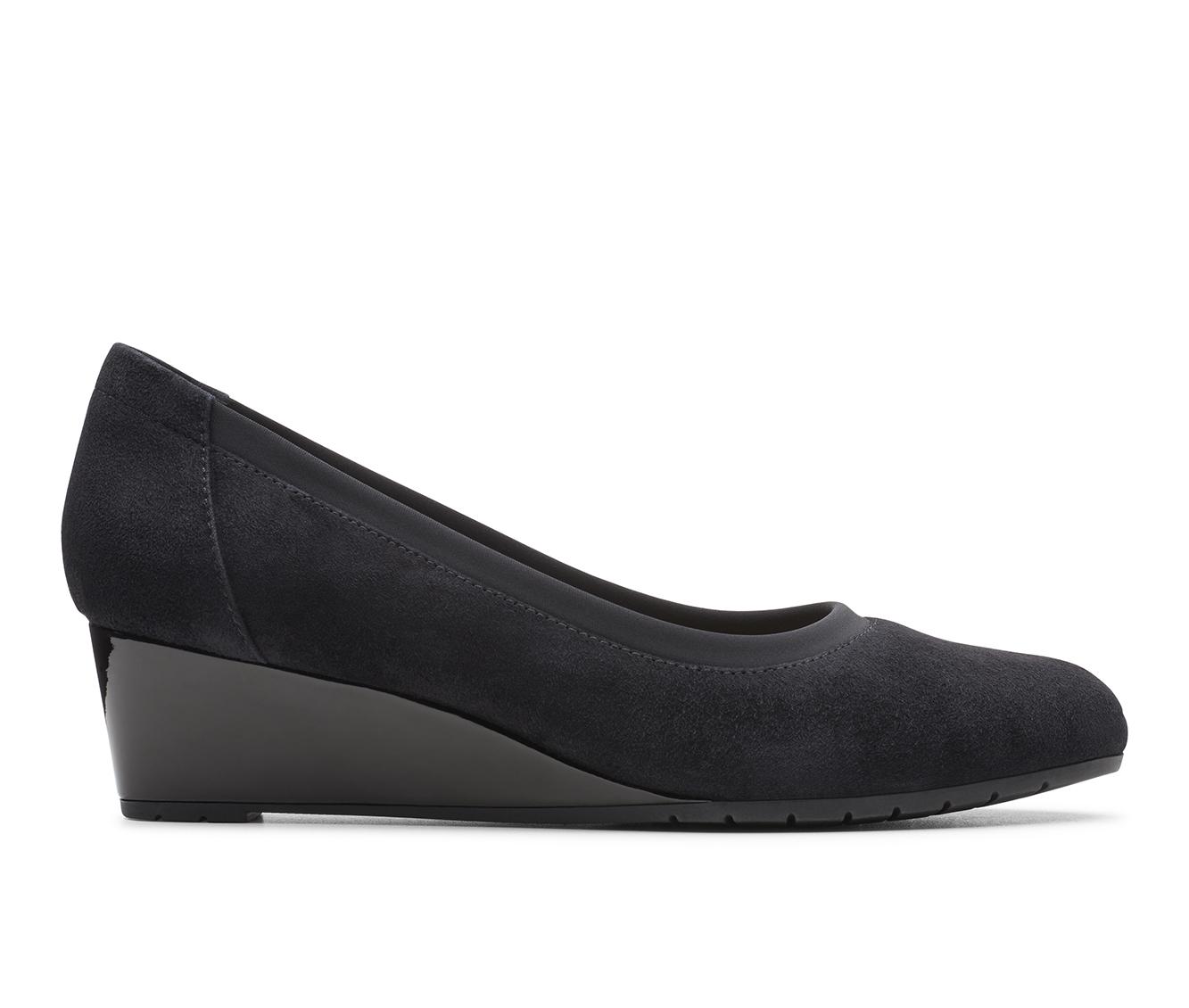 Clarks Mallory Berry Women's Dress Shoe (Black Leather)