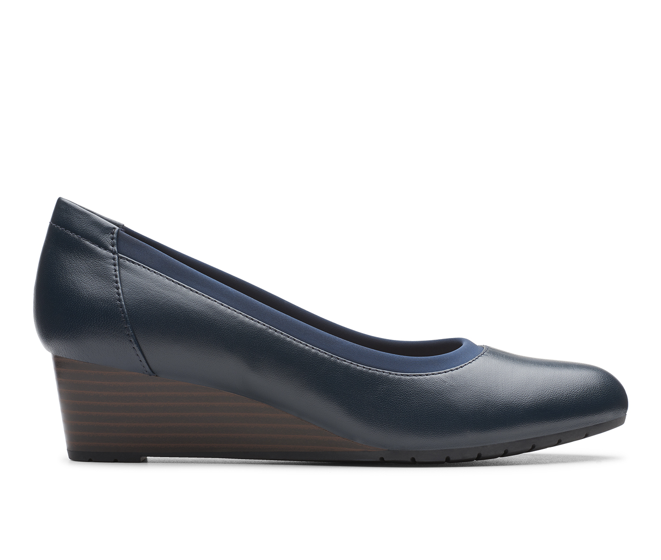 Clarks Mallory Berry Women's Dress Shoe (Blue Leather)
