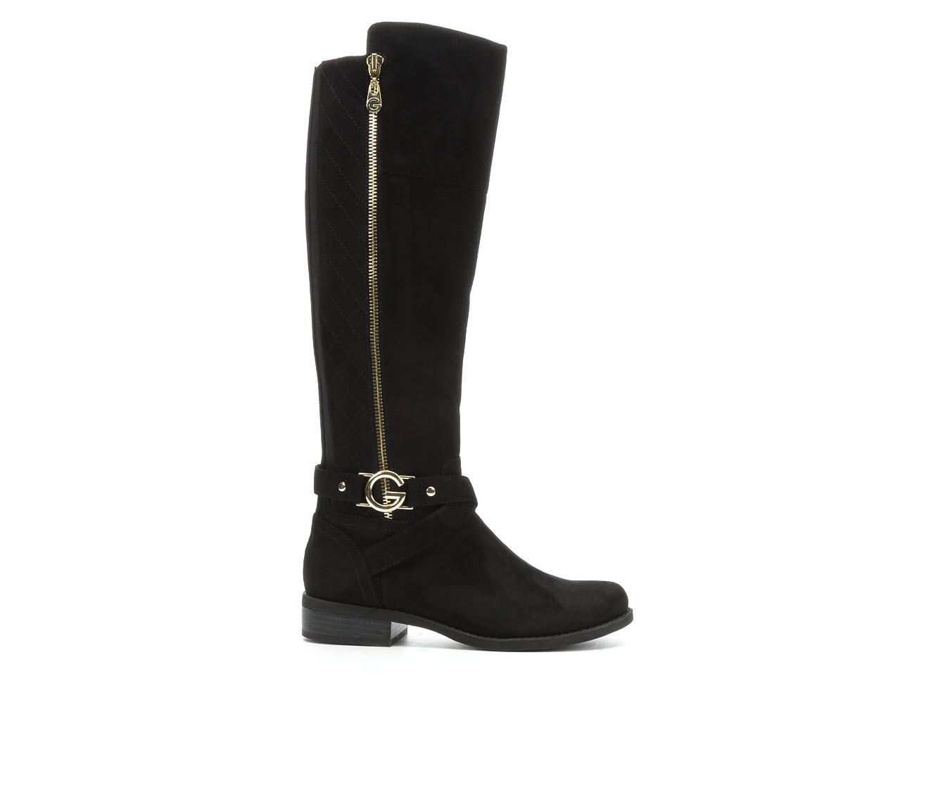 G By Guess Hillie Women's Boots (Black - Faux Leather)