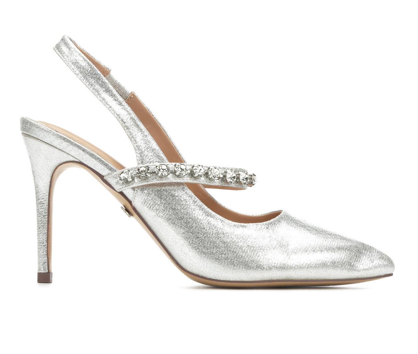 LLorraine Selina Women's Dress Shoe (Silver Faux Leather)
