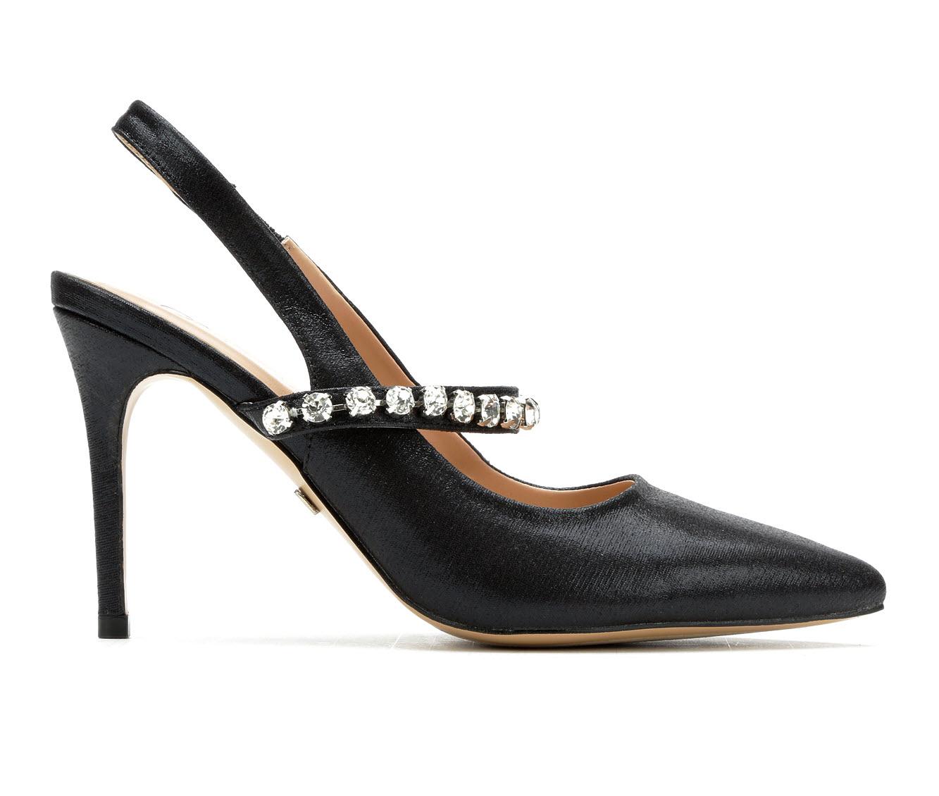 LLorraine Selina Women's Dress Shoe (Black Faux Leather)
