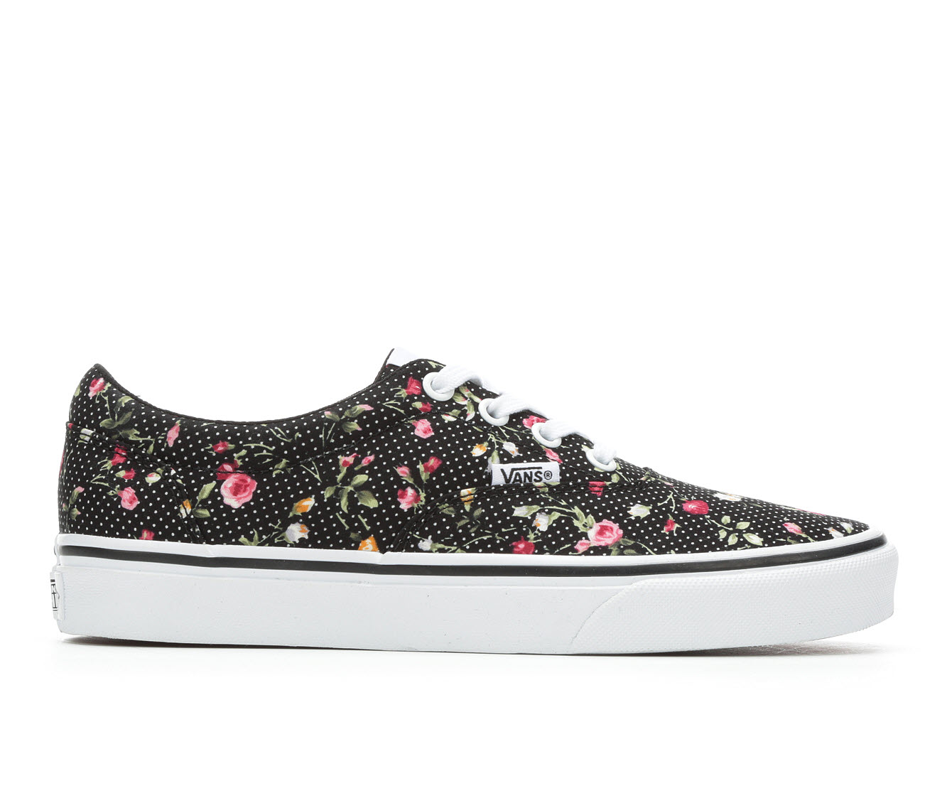 Vans Doheny Floral Dots Women's Athletic Shoe (Black)
