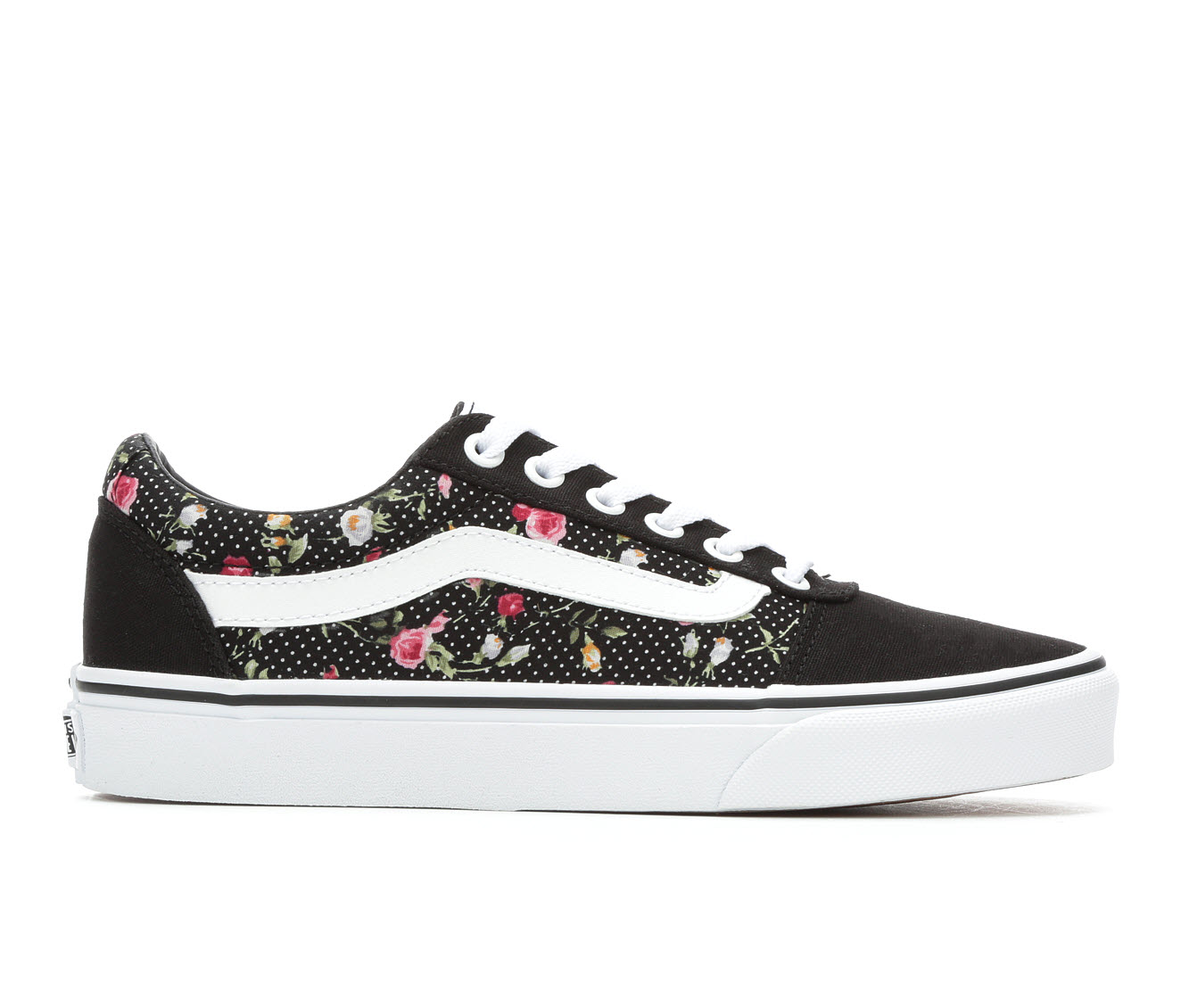Vans Ward Floral Dots Women's Athletic Shoe (Black)