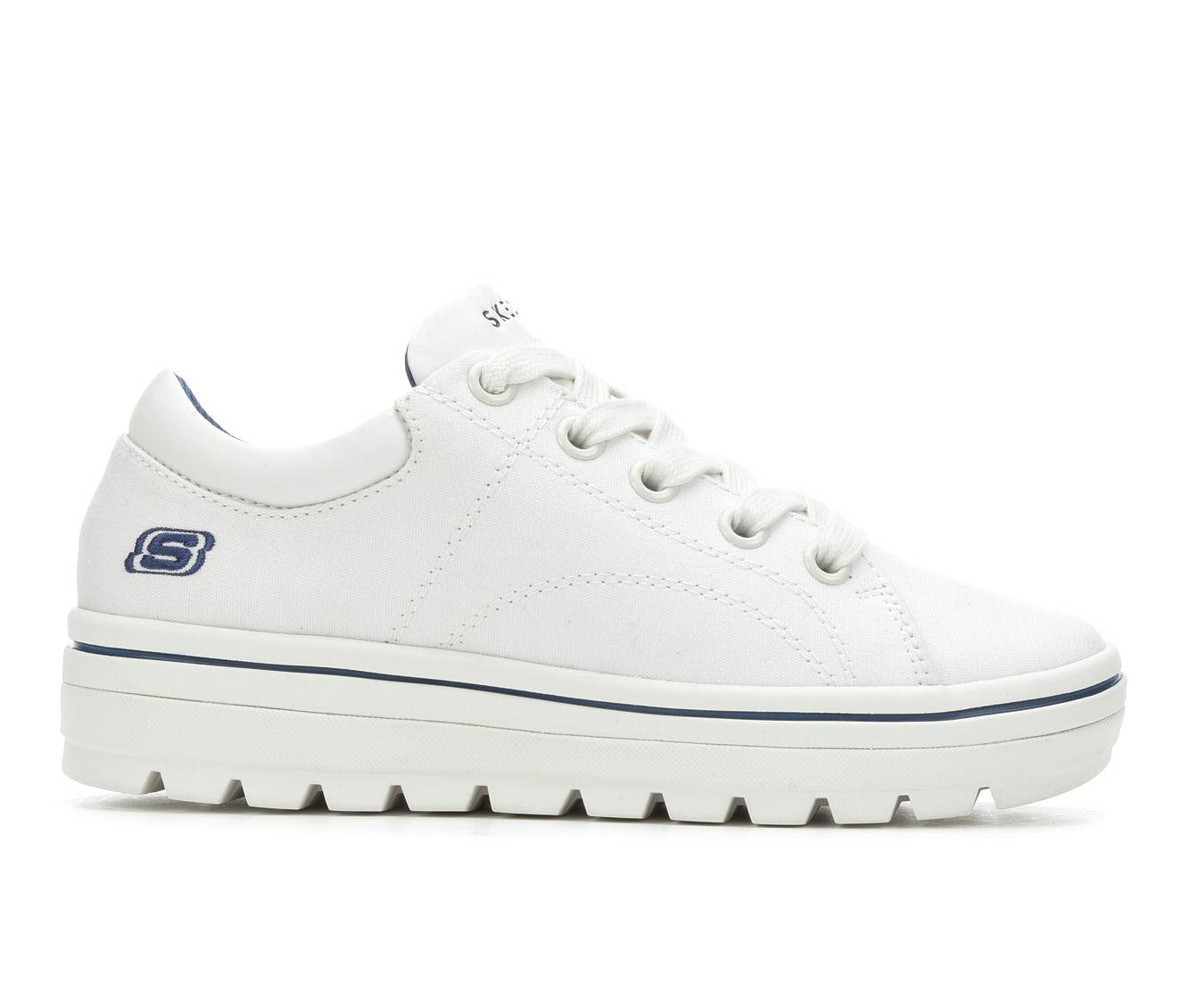 Skechers Street Bring It Back 74100 Women's Shoe (White Leather)
