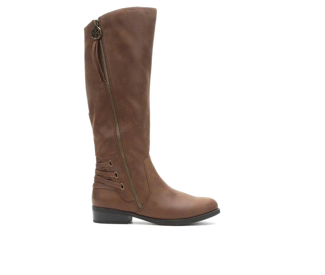 Daisy Fuentes Tavie Women's Boot (Brown Faux Leather)