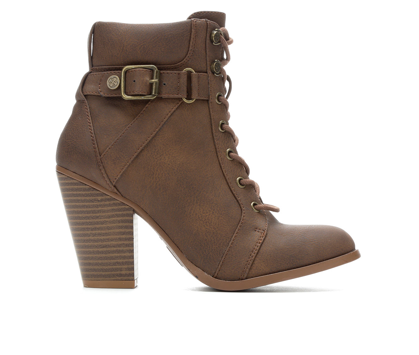 Daisy Fuentes Cloudi Women's Boot (Brown Faux Leather)