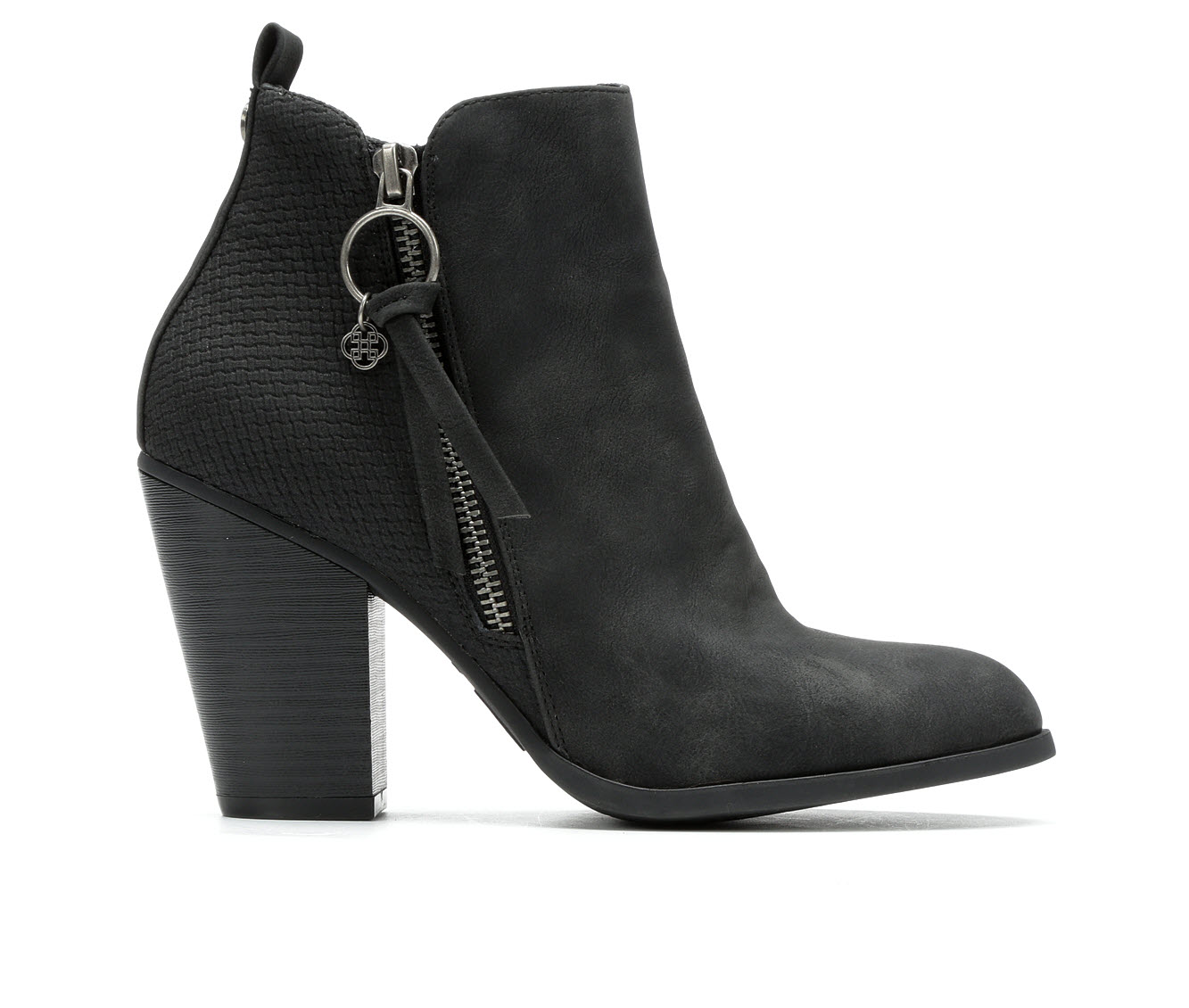 Daisy Fuentes Clay Women's Boot (Black Faux Leather)