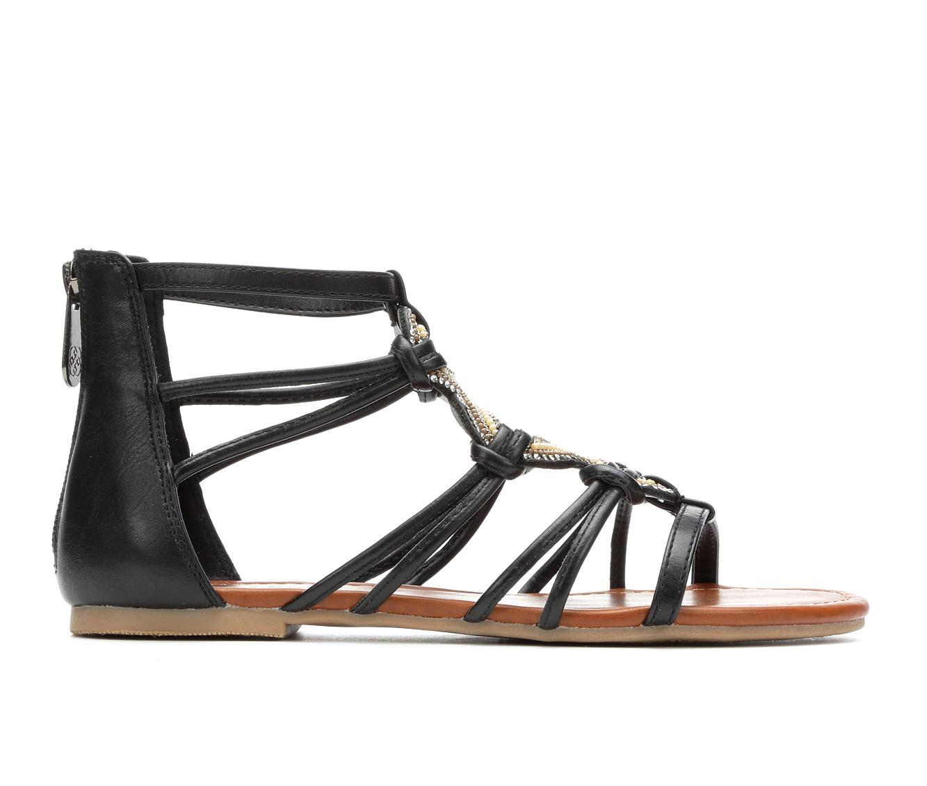 Daisy Fuentes Orah Women's Sandal (Black Faux Leather)