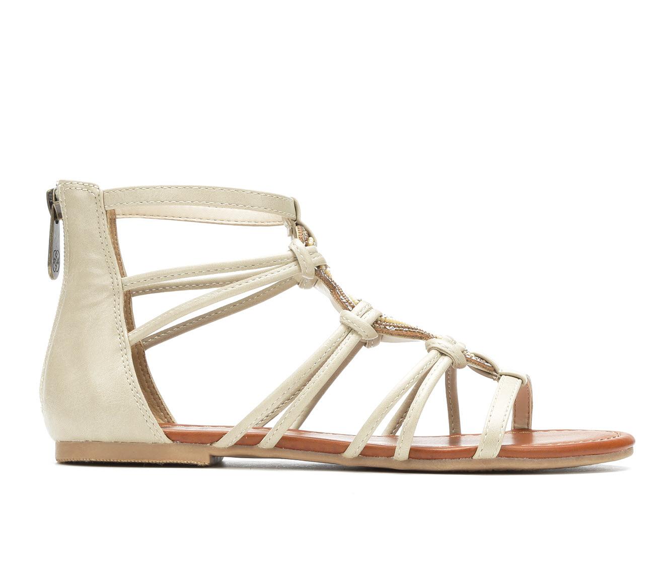 Daisy Fuentes Orah Women's Sandal (Beige Faux Leather)