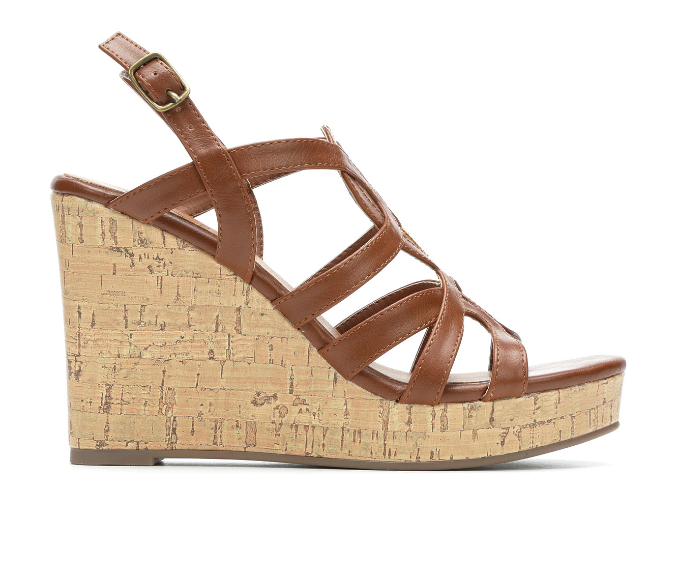Daisy Fuentes Susie Women's Dress Shoe (Brown Faux Leather)
