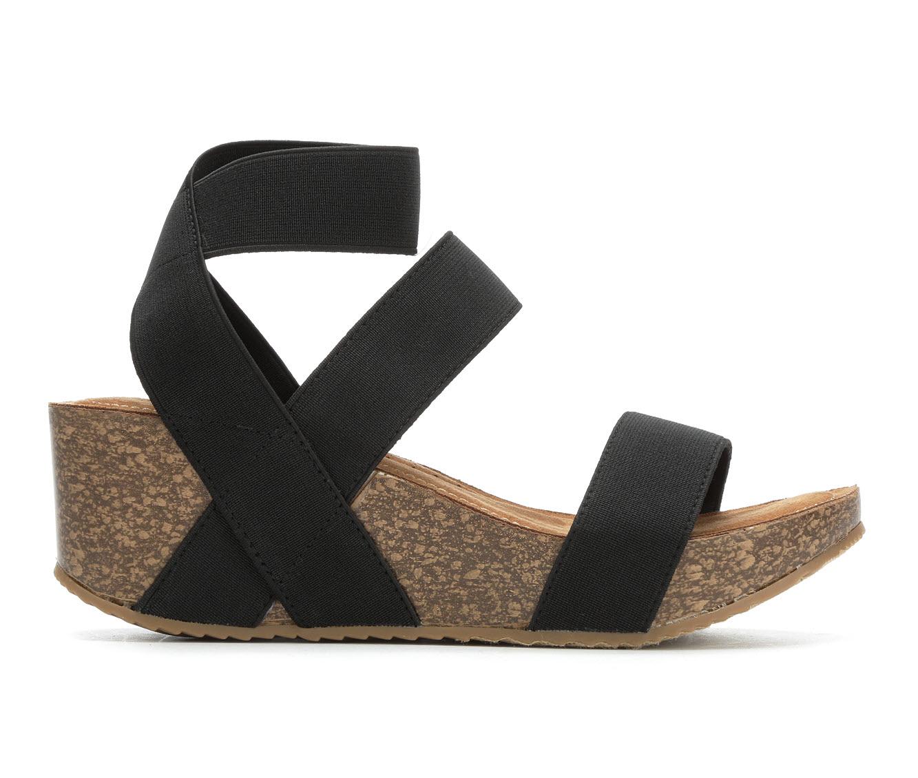 Madden Girl Zoeyy Women's Sandal (Black Canvas)