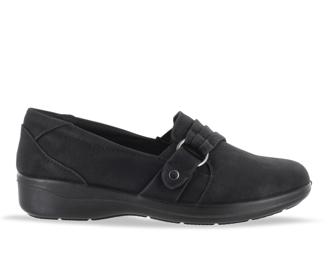 Easy Street Tully Women's Shoe (Black Faux Leather)