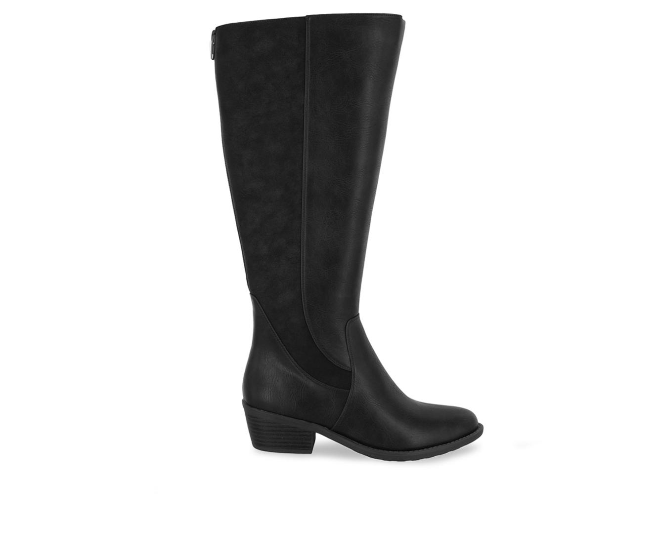 Easy Street Cortland Plus Women's Boot (Black Faux Leather)