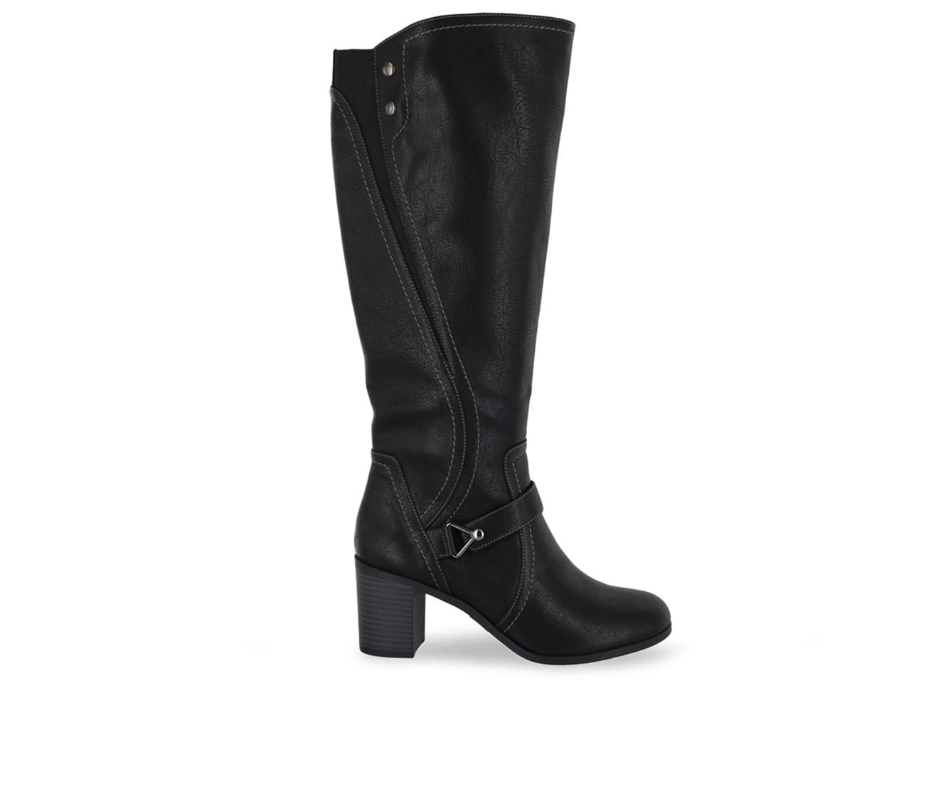 Easy Street Format Women's Boot (Black Faux Leather)