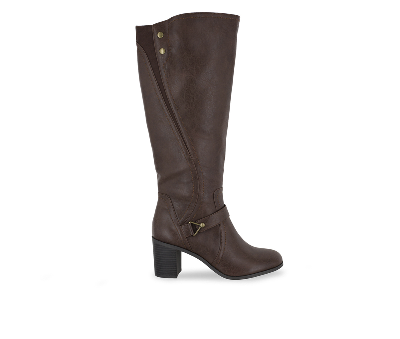 Easy Street Format Women's Boot (Brown Faux Leather)