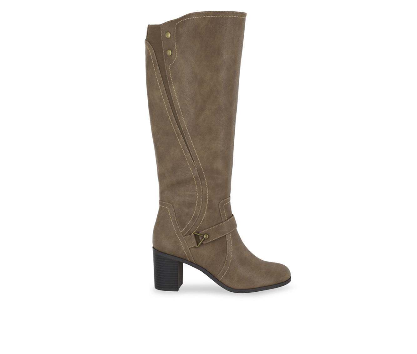 Easy Street Format Women's Boot (Beige Faux Leather)