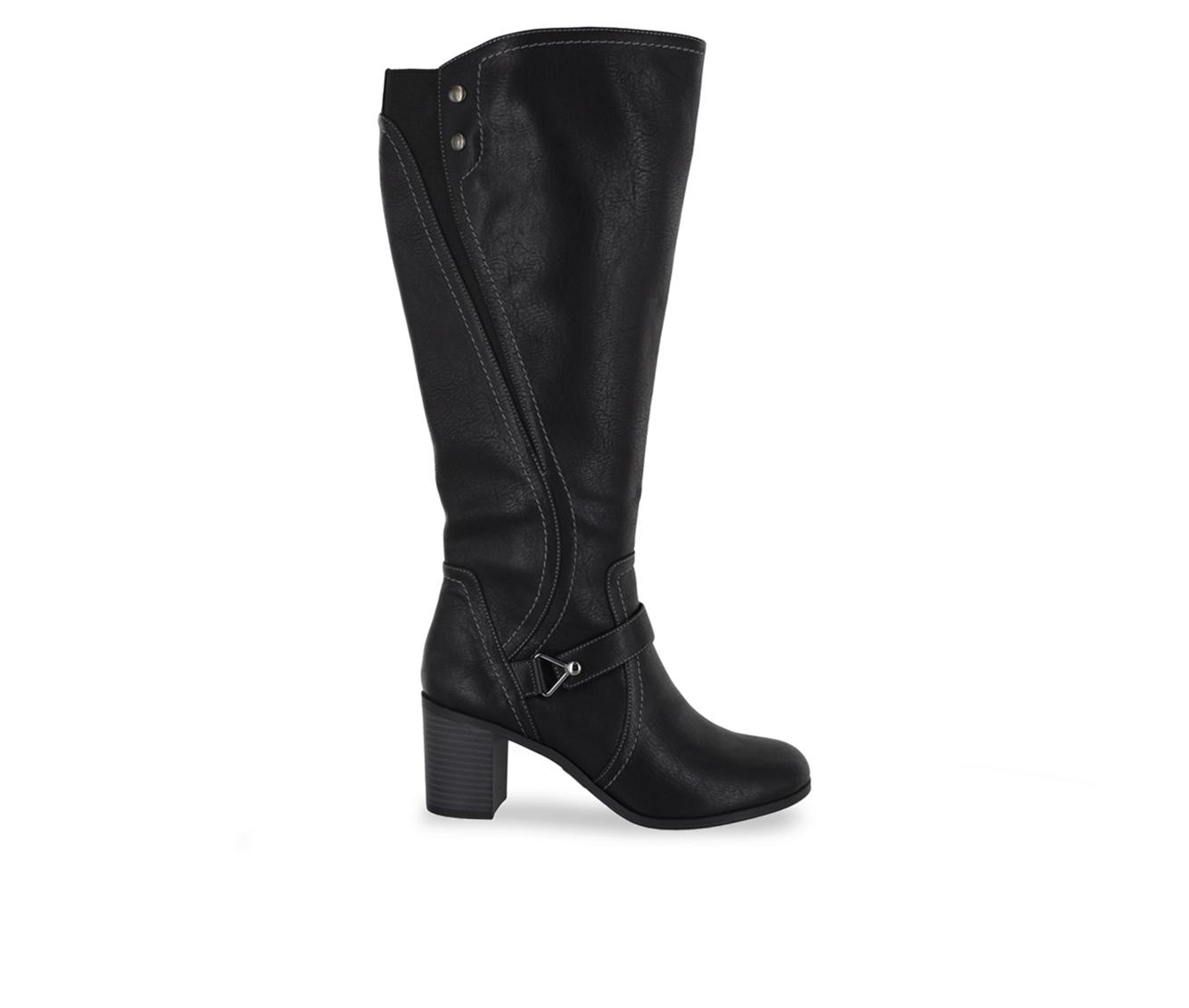 Easy Street Format Plus Women's Boot (Black Faux Leather)