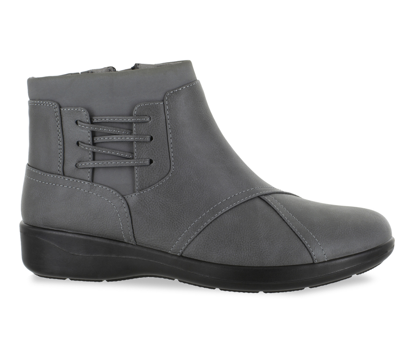 Easy Street Guild Women's Boot (Gray Faux Leather)