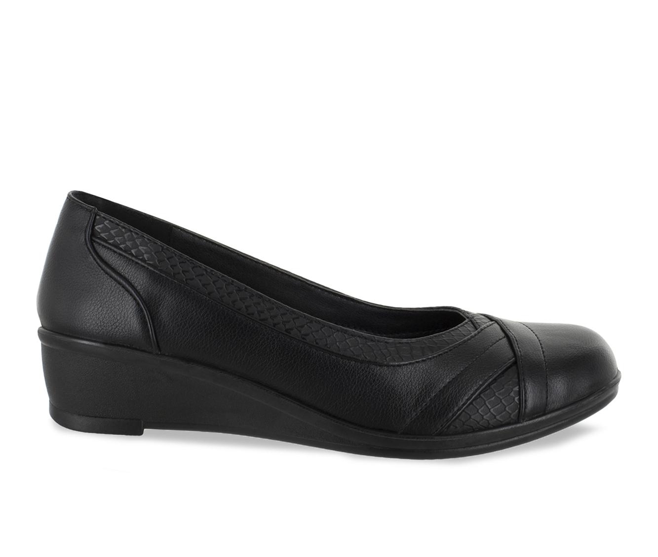 Easy Street Dena Women's Shoe (Black Faux Leather)
