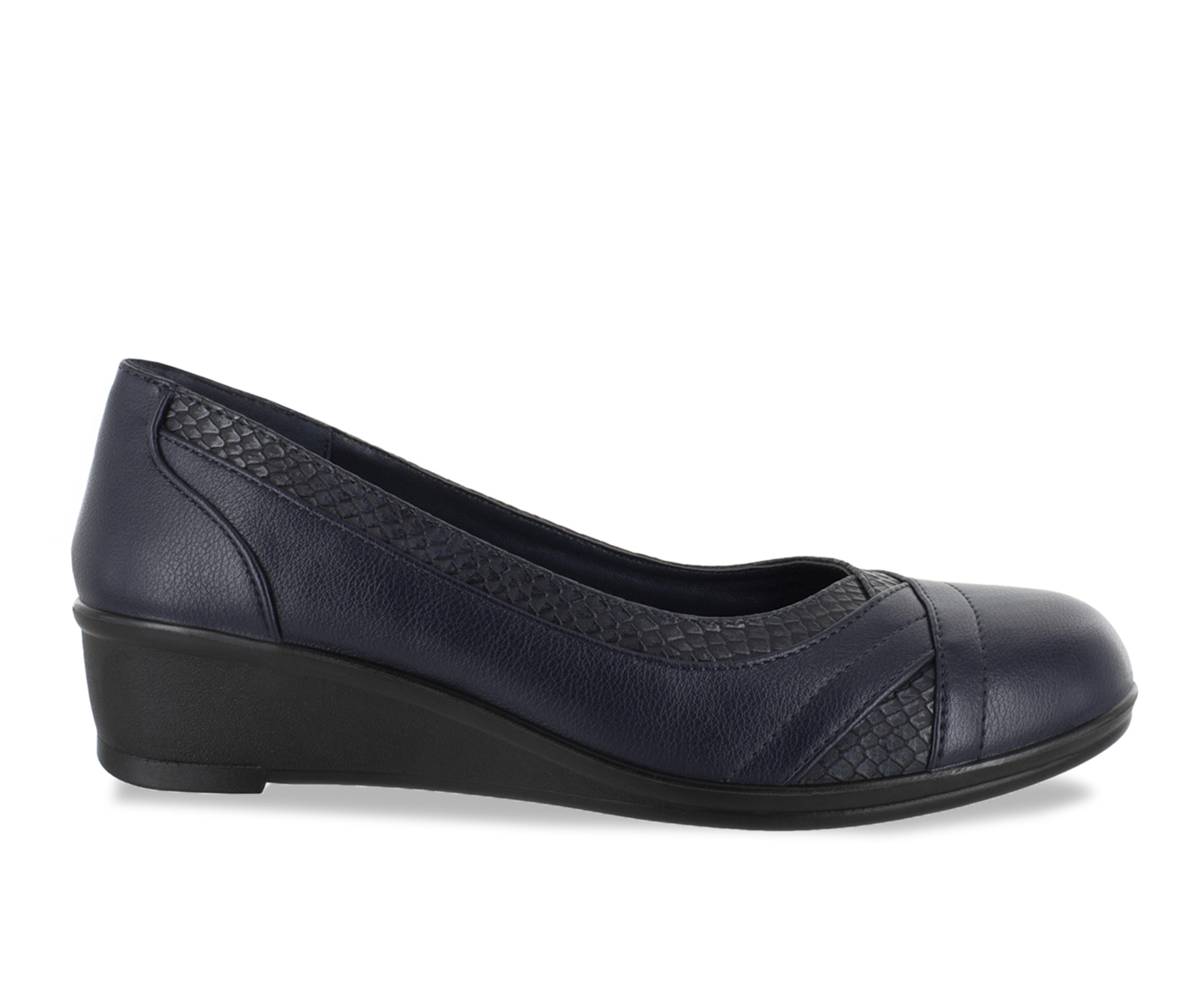 Easy Street Dena Women's Shoe (Blue Faux Leather)
